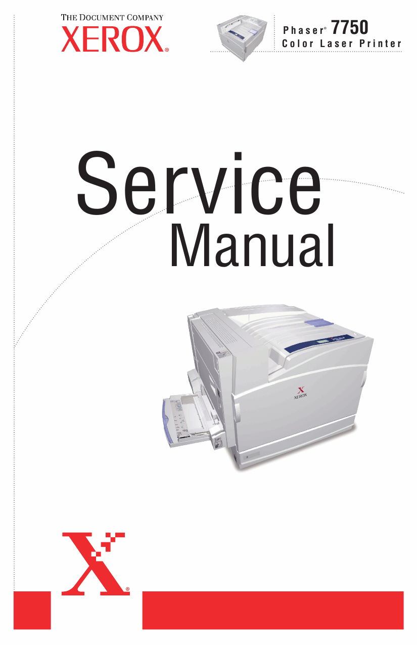 Xerox Phaser 7750 Parts List and Service Manual-1